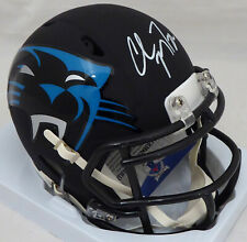 CHRISTIAN MCCAFFREY AUTOGRAPHED PANTHERS AMP SPEED MINI HELMET BECKETT 176025