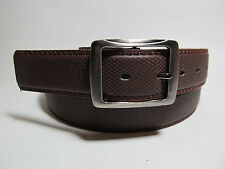 """Men Leather Belt Brown with Smoke Color Buckle XL 42 - 44"""" #1633B"""