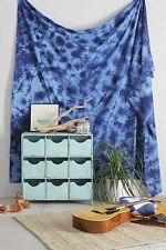 """NEW URBAN OUTFITTERS BLUE ACID WASH TAPESTRY WALL HANGING 84"""" X 100"""""""