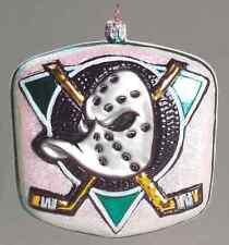 Slavic Treasures Nhl Blown Glass Ornaments Anaheim Mighty Ducks 5559011