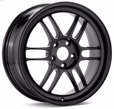 Enkei RPF1 wheels 17x9 5x114.3 +45 Black. Set of 4. 3797906545BK S2000 SI STI