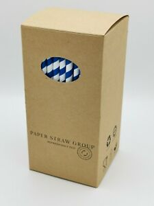 Paper Straws - Party Straws - 50 or 250 straws UK made 100% Compostable & Eco