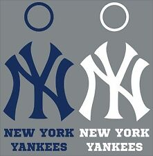 New York Yankees Cornhole Decal Set - 6 Cornhole Decals Free Circles
