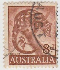 (PDX570) 1959 AU 8d Brown Tiger Cat (F)