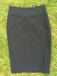 Jaeger Black Skirt Straight/Pencil Size 10