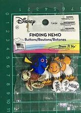 DRESS IT UP BUTTON EMBELLISHMENTS ~FINDING NEMO 7 PIECES