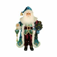 Karen Didion Originals Peacock Santa Figurine, 19 Inches