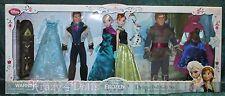 Disney Frozen Classic Anna Elsa Hans Kristoff Deluxe Fashion Doll Gift Set NEW!
