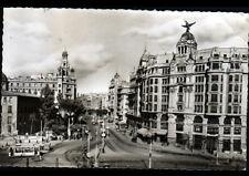 VALENCIA (ESPAGNE) TRAMWAY & ATTELAGE aux COMMERCES , Ave. MARQUES en 1950