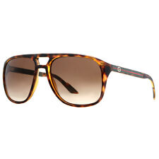 Gucci GG 1018/S 791/CC Havana Brown/Brown Gradient Aviator Sunglasses