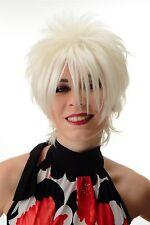Damenperücke Perücke kurz toupiert wilde Strähnen 80er Wave Punk Blond BLUE144