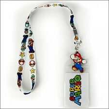 Nintendo Super Mario Bros Luigi Lanyard Neck Strap Necklace ID Holder Keychain