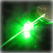 100 Led 4,8mm StrawHat Verde Green 130 Grados  Alto Brillo + resistencias