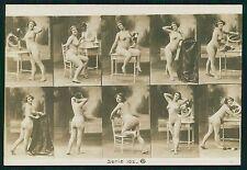GA 102 Stock Card French photo stereo card nude original c1900-1910s