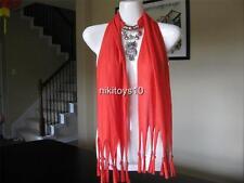 Pinkish Orange Fashion Jewelry Scarf w Decoration Owl Necklace Pendant