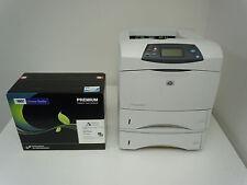 HP LASERJET 4350DTN PRINTER AND NEW HIGH YIELD COMP HP Q5942X 42X TONER+WARRANTY