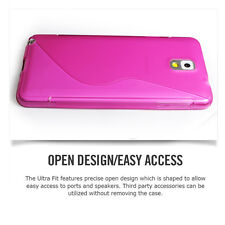 Premium S Wave Back Case Flexible TPU for Samsung Galaxy Note 3 N9000 [PINK]