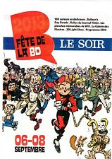 FETE DE LA BD RARE SUPPLEMENT JOURNAL LE SOIR FRANQUIN/WILL...