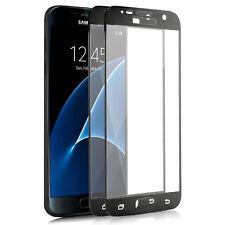 2x Full Cover Panzerfolie für Samsung Galaxy S7 Echt Schutz Glas Folie Schwarz