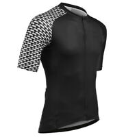 Black Men's Cycling Short Sleeve Tops Jersey Bike Riding Shirt Jerseys Outfits