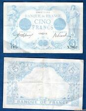 5 Francs Bleu  Type 1905 - 20-09-21915 X.7863 Qualité TTB + SUP