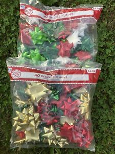 Christmas Holiday 80 Assorted Deluxe Gift Bows Variety Pack
