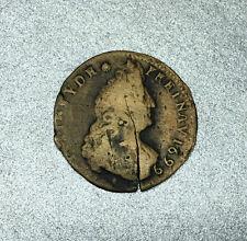 """LIARD LOUIS XIV 1699 3e TYPE """" Buste âgée """" AIX en PROVENCE / FRANCE en CUIVRE."""