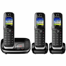 Panasonic Triple Cordless DECT Phone with Answering Machine (KX-TGJ323EB)
