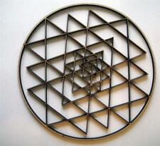 """Sacred geometry Sri Yantra crystal Grid Extremely intricate 10"""""""