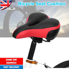 MTB Wide Big Bicycle Seat Saddle Gel Extra Sporty Soft Cushion Pad mountain Bike