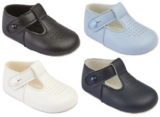 Baby shoes boys pram BAYPODS christening traditional T Bar EARLY DAYS