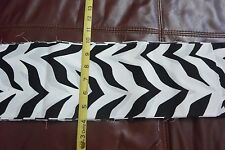 "Black & White Zebra Stripes Cotton Strip Trim Fabric 5.25"" W x 9Yd L"