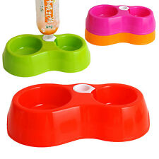 High Quality Plastic Made Pet Dog Cat Feeder Solid Color Dish Water Food Bowl