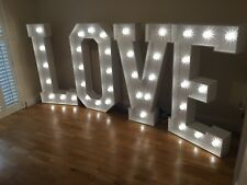 HIRE 4ft Giant LED Love Lights / Large Light Up Letters for Weddings - Hampshire