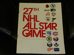 1974 NHL HOCKEY ALL STAR GAME PROGRAM PLAYED IN CHICAGO EX-MINT