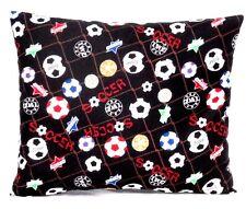 Toddler Pillow for Soccer Balls on Black 100%Cotton #Sb2 New handmade