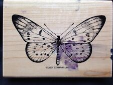 Stampin Up Wonderful Wings Stamp Lacewing Butterfly 2001 Retired Wood Mount