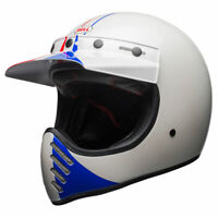 Bell Moto 3 Ace Cafe GP 66 White Blue Red Off Road Motorbike Helmet   All Sizes