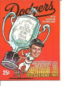 1970 St Louis Cardinals @ Los Angeles Dodgers Scorecard Program 36 Pages