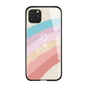 Case For iPhone 12 11 Pro Max XR XS 8 7 6 5 Hybrid Tempered Glass Back TPU Cover