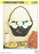 Flower Basket Clock ~  plastic canvas pattern ~   Annie's