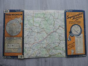 Ancienne Carte Michelin n° 81 - AVIGNON - DIGNE - Edition 1933