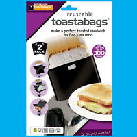 8x 300 Times Reusable Toastabags No Mess Toaster Tostie Sandwich Bags