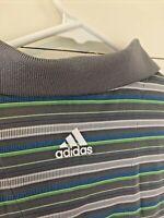 Adidas ClimaCool Men's Golf Tennis Polo Shirt Size Large Gray EUC