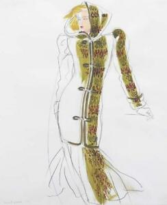 ANTONIO LOPEZ ORIGINAL PAINTING FASHION DESIGNER ILLUSTRATION #12172 RARE! ART!