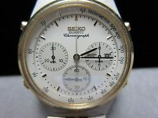 Seiko Chronograph Watch 1983, 7A38-7270-A-6, 15 Jewels Working New Battery