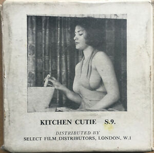 Amateur Glamour Model in Kitchen Cutie - Ann Austin 8mm 50ft Rare