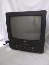 "Vtg JVC  TV/VCR VHS Combo  13"" Model 13140 Retro Gaming Television"