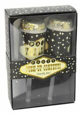 Viva Las Vegas Gold and Silver Push Up Confetti Party Popper Cannons