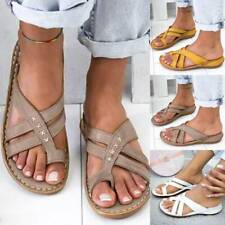 Womens Orthopedic Slide Ring Toe Sandals Slip On Flip Flop Summer Shoe Size US